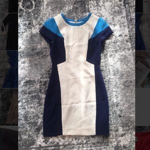 Club Monaco color block work dress size 00